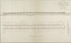 Plan and Elevation OF LONDON BRIDGE, in its Present State. (2nd JULY 1799) by Mr Dance